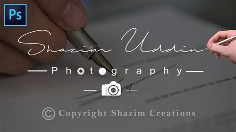 How to Create Own Signature Logo For Photography 📷 - YouTube