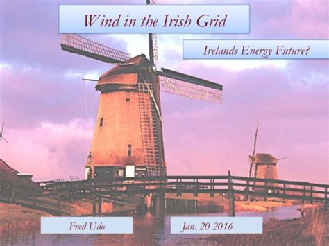 A Narrative about Wind in the Irish Grid