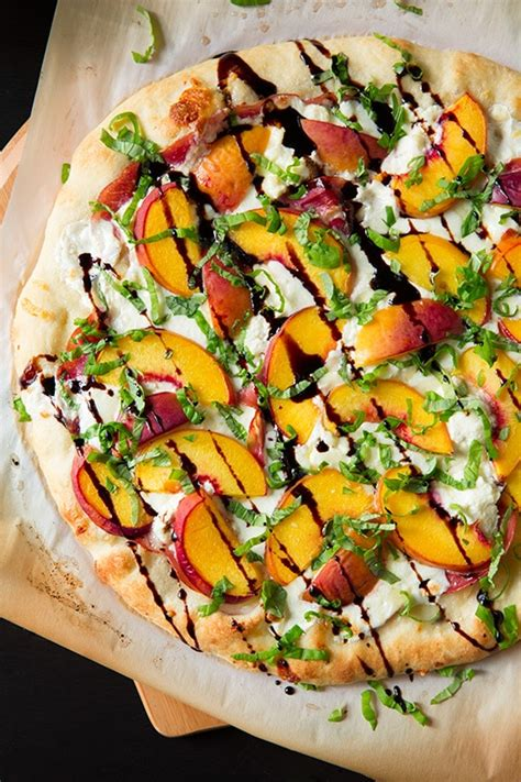 Peach & Prosciutto Pizza with Balsamic Reduction - Cooking