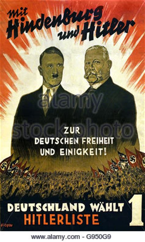 Nazi Party poster for the German Reichstag elections 1932