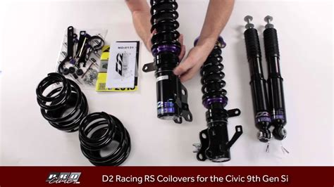 How to adjust D2 Racing RS Coilovers for the 9th Gen Si