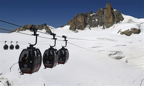 The Panoramic Mont-Blanc lift, that connected Aiguille du