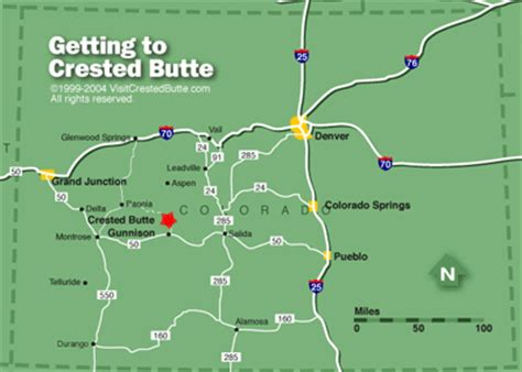 Map & Directions |Crested Butte, Colorado | Airline