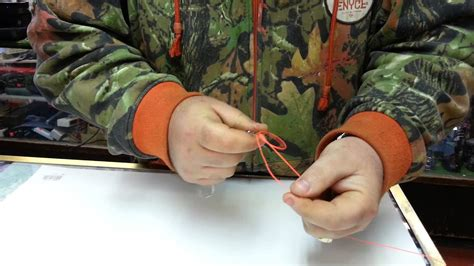 How to tie a fishing lure knot with braided fishing line