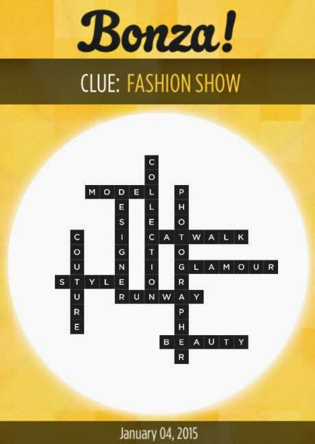 Bonza Word Puzzle Answers January 2015 - App Cheaters