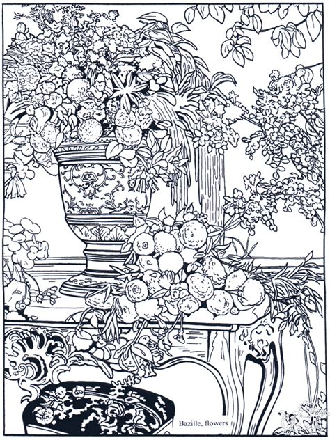 Painter Bazille - Art coloring pages
