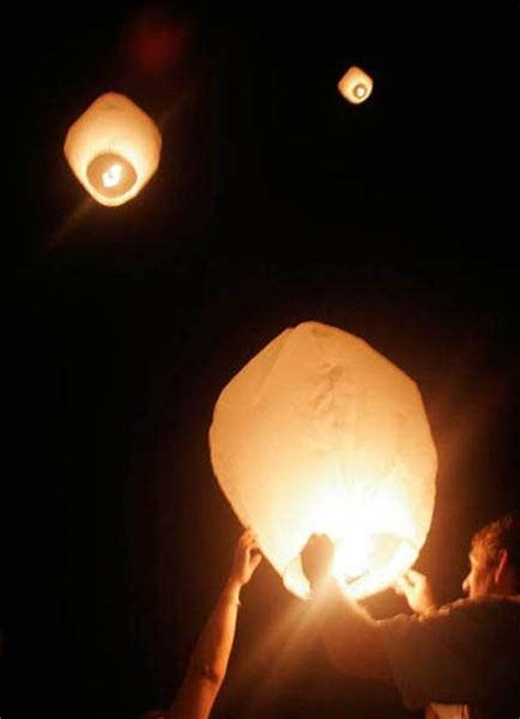Sky Lanterns: Paper Hot Air Balloons, add Fire, let Go
