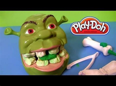 Play Doh Shrek Rotten Root Canal Playset with Dentist Dr