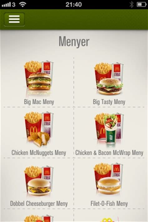 McDonald's Norge | iPhone/iPad | Norske Apps