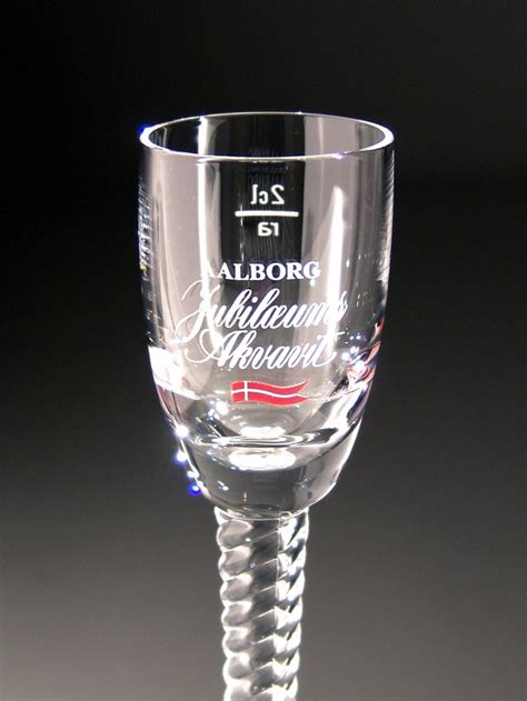 Aalborg Jubilee Akvavit Glass from Ritzenhoff crystal with the
