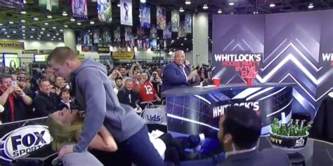 Gronk Awkwardly Surprise Dry Humps Reporter During Super