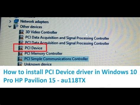 How to install PCI Device driver software for Realtek PCIE