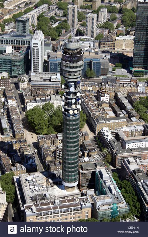 Aerial image of BT Tower, formerly Post Office Tower