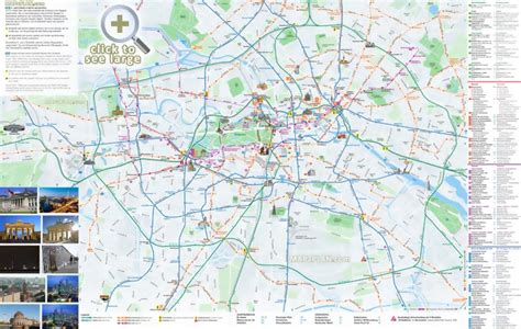 Berlin maps - Top tourist attractions - Free, printable