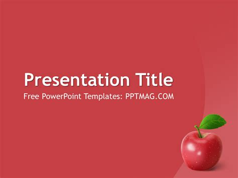 Free Apple Fruit PowerPoint Template - PPTMAG